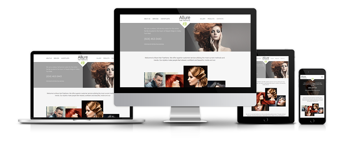 Responsive Website Design, Custom Graphic Template, Content Management System.