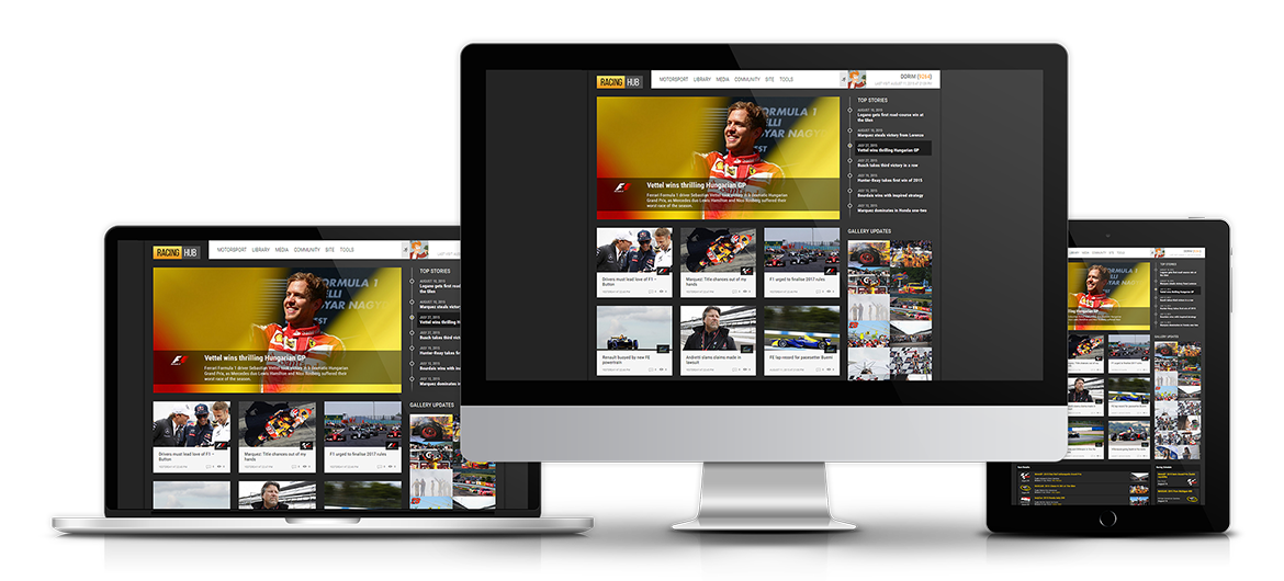 Interactive Website Design, CMS Implementation and Support for All Motorsport Fans.